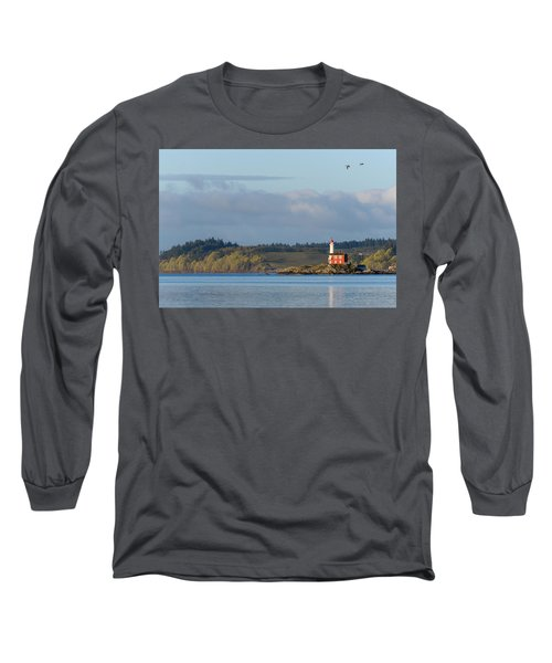 Fisgard Lighthouse At Dawn Long Sleeve T-Shirt