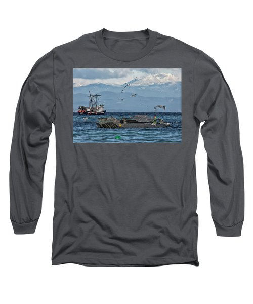 Long Sleeve T-Shirt featuring the photograph Fish Are Flying by Randy Hall