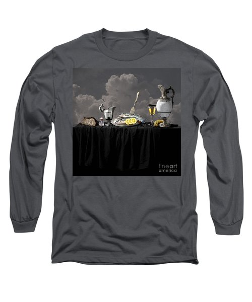 Fish Diner In Silver Long Sleeve T-Shirt