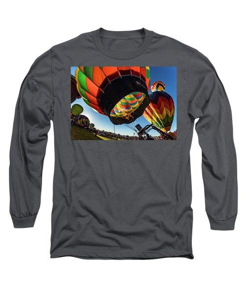 Fish Eye View Of The Balloon Races Long Sleeve T-Shirt