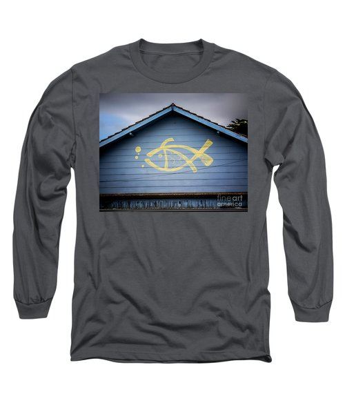 Long Sleeve T-Shirt featuring the photograph Fish House by Perry Webster