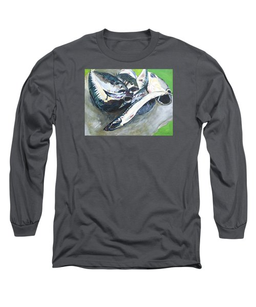 Fish On A Table Long Sleeve T-Shirt