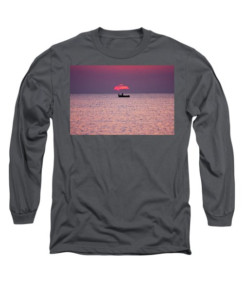Long Sleeve T-Shirt featuring the photograph Fisherman by Bruno Spagnolo