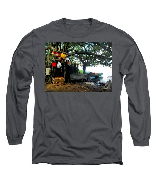 Fishing In Moorea Long Sleeve T-Shirt