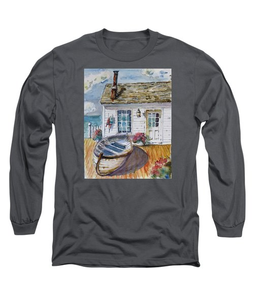 Fisherman's Cottage Long Sleeve T-Shirt by P Maure Bausch