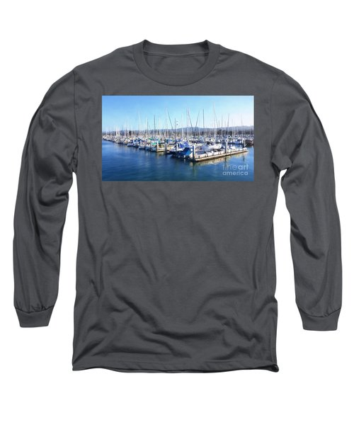 Long Sleeve T-Shirt featuring the photograph Fisherman's Wharf Monterey by Gina Savage
