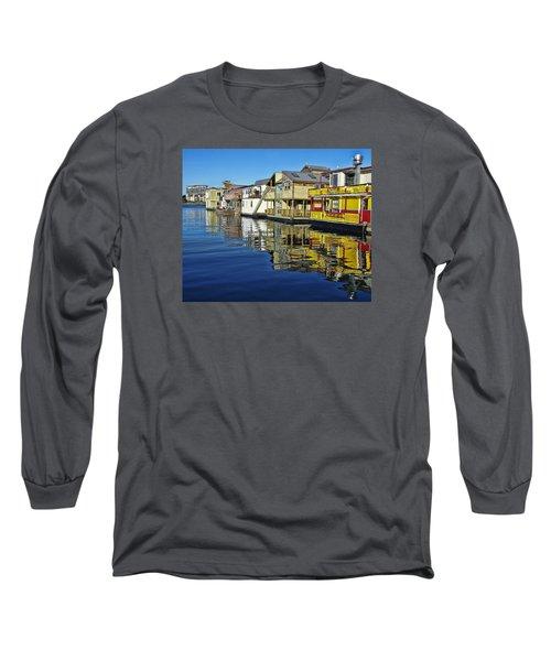 Fisherman's Wharf Long Sleeve T-Shirt by Marilyn Wilson