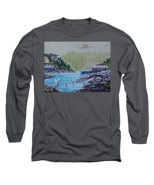 Fisher's Cove Long Sleeve T-Shirt by Mike Caitham