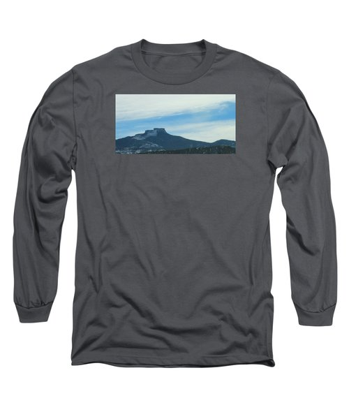 Long Sleeve T-Shirt featuring the photograph Fishers Peak Raton Mesa In Snow by Christopher Kirby