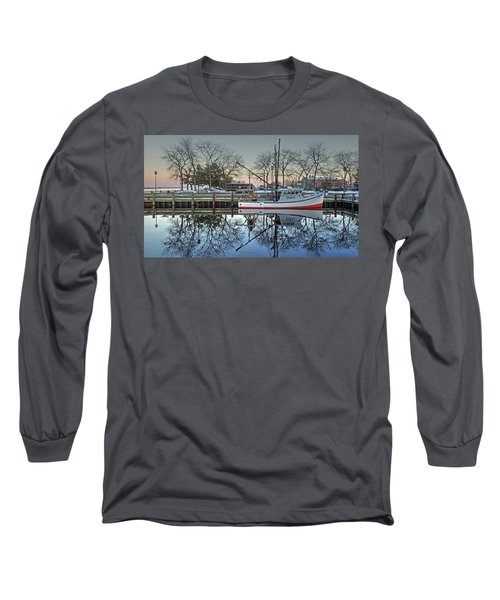 Long Sleeve T-Shirt featuring the photograph Fishing Boat At Newburyport by Wayne Marshall Chase