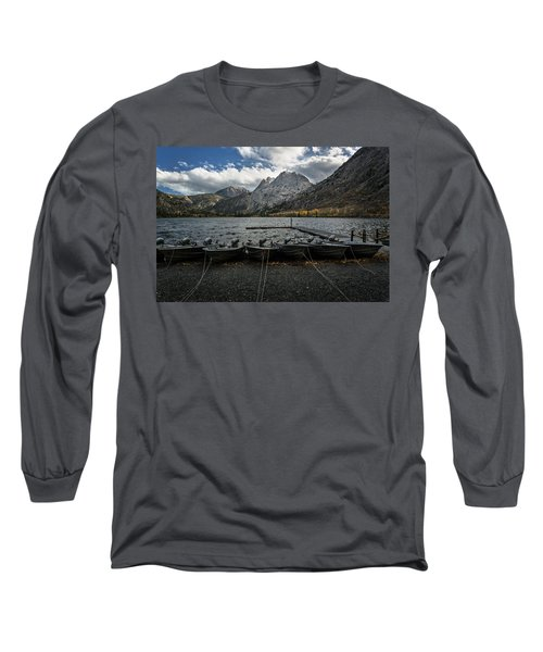 Fishing Boats Along The Shore Long Sleeve T-Shirt