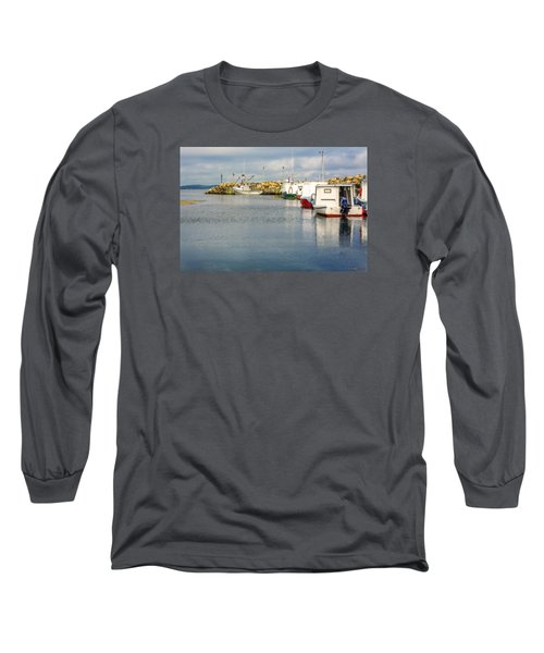 Fishing Boats At Feltzen South Long Sleeve T-Shirt by Ken Morris