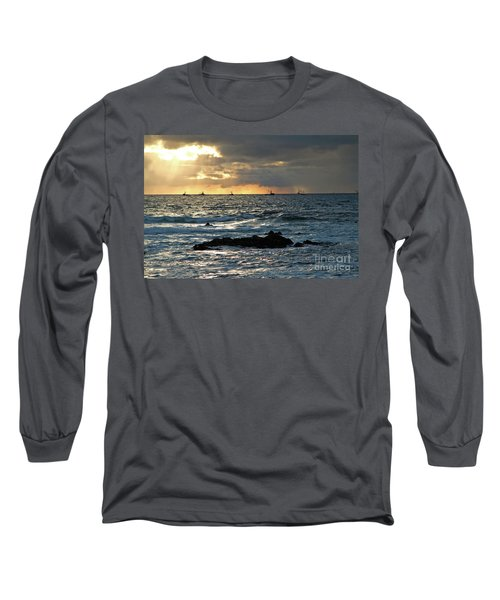 Fishing Boats Off Point Lobos Long Sleeve T-Shirt