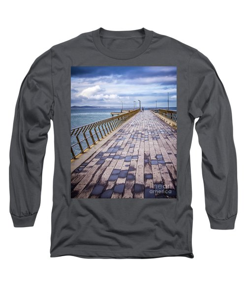 Long Sleeve T-Shirt featuring the photograph Fishing Day by Perry Webster