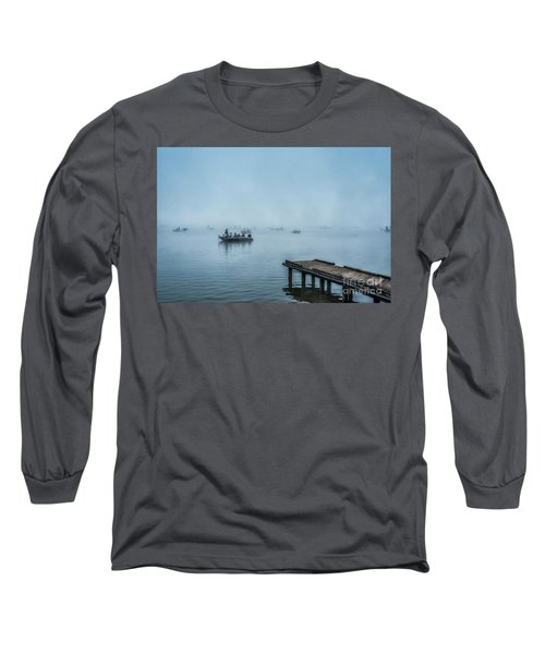 Fishing In The Fog Summersville Lake  Long Sleeve T-Shirt