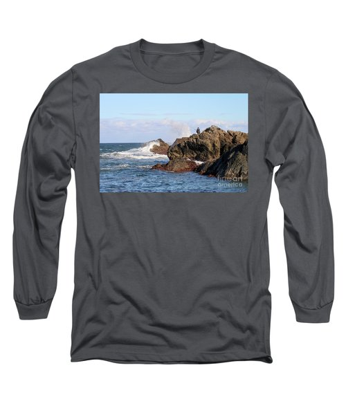 Long Sleeve T-Shirt featuring the photograph Fishing by Linda Lees