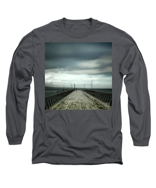 Long Sleeve T-Shirt featuring the photograph Fishing Pier by Perry Webster