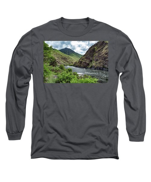 Fishing The Snake Waterscape Art By Kaylyn Franks Long Sleeve T-Shirt