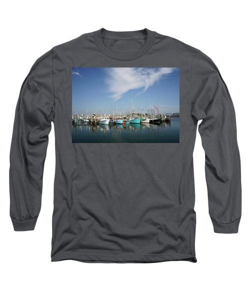 Fishing Vessels At Galilee Rhode Island Long Sleeve T-Shirt