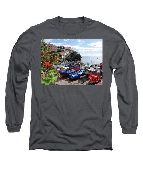 Fishing Village On The Island Of Madeira Long Sleeve T-Shirt