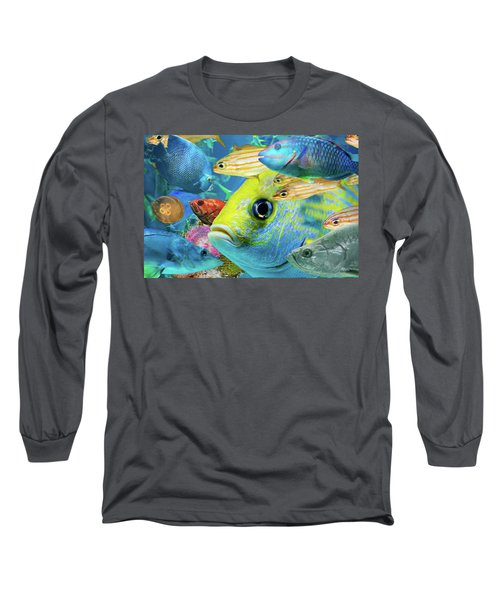 Fishy Collage 02 Long Sleeve T-Shirt