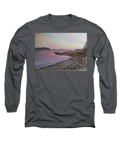 Long Sleeve T-Shirt featuring the painting Five Islands - Draft IIi by Joel Deutsch