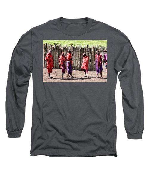 Five Maasai Warriors Long Sleeve T-Shirt