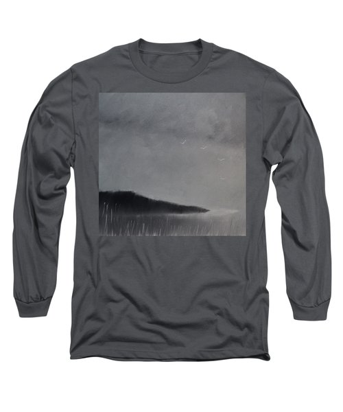 Long Sleeve T-Shirt featuring the painting Fjord Landscape by Tone Aanderaa