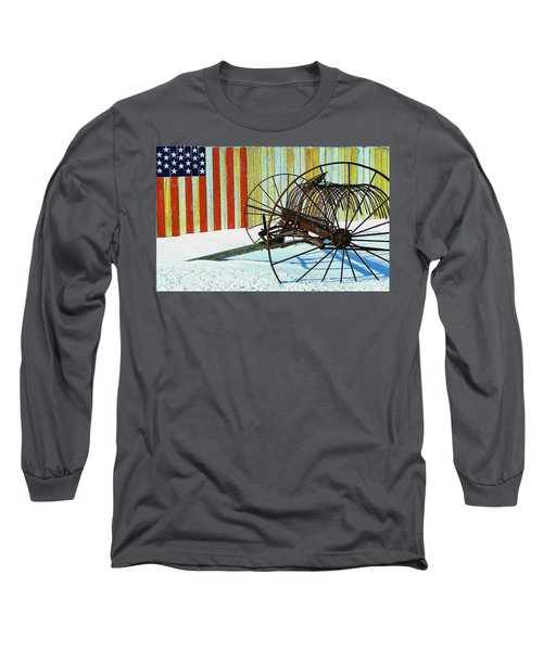 Flag And The Wheel Long Sleeve T-Shirt