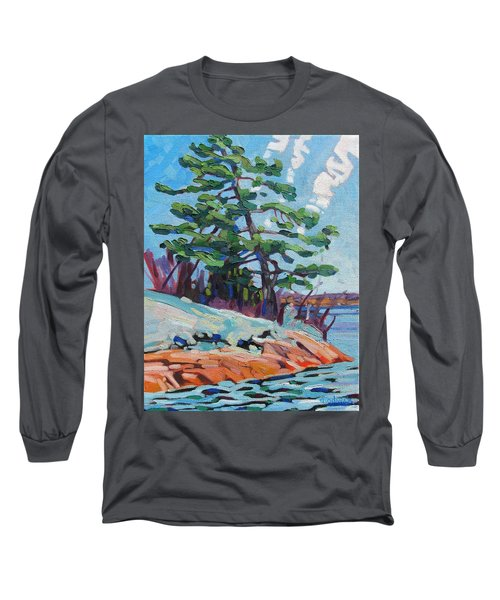 Flags And Contrails Long Sleeve T-Shirt
