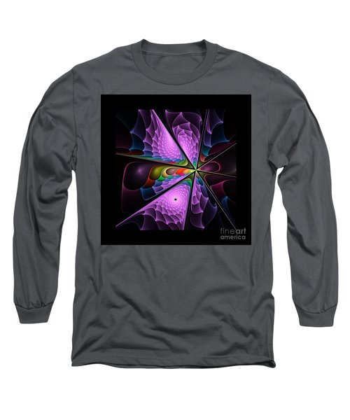 Flames On Black -m- Long Sleeve T-Shirt