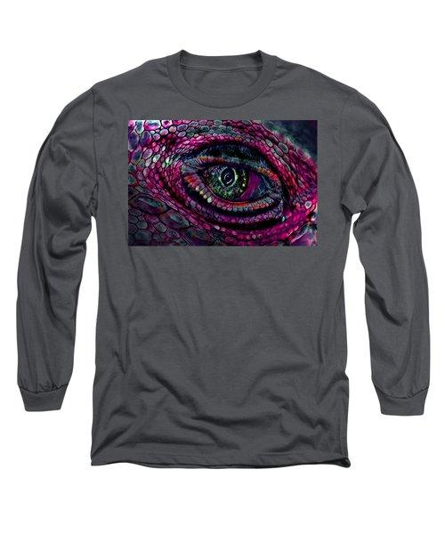 Flaming Dragons Eye Long Sleeve T-Shirt