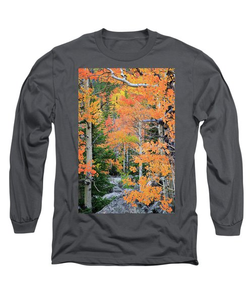 Long Sleeve T-Shirt featuring the photograph Flaming Forest by David Chandler