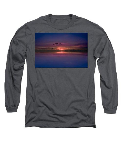 Flaming Sky  Long Sleeve T-Shirt