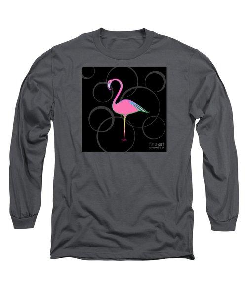 Flamingo Bubbles No 1 Long Sleeve T-Shirt by Alycia Christine