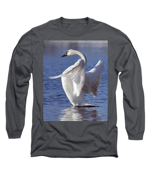 Flapping Swan Long Sleeve T-Shirt