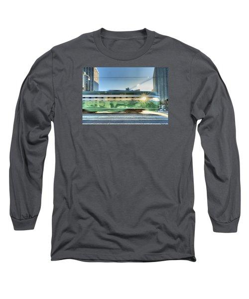 Long Sleeve T-Shirt featuring the photograph Flash Muni by Steve Siri