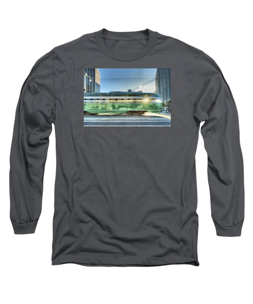 Long Sleeve T-Shirt featuring the photograph Flash Muni by Steve Siri