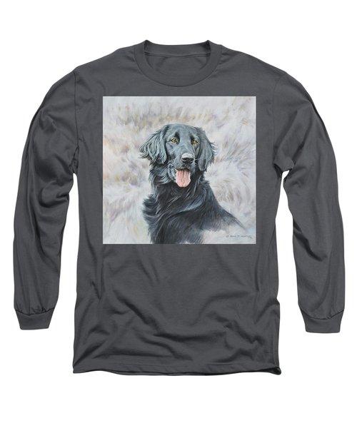 Flat Coated Retriever Portrait Long Sleeve T-Shirt