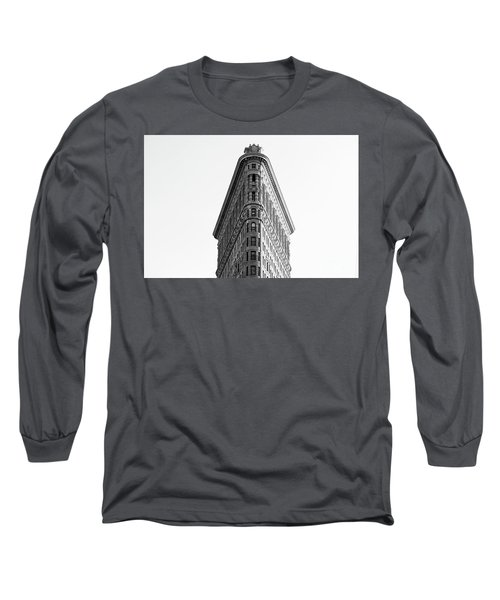 Long Sleeve T-Shirt featuring the photograph Flat Iron Building by MGL Meiklejohn Graphics Licensing
