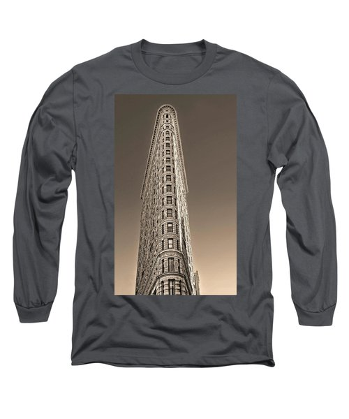 Flat Iron Building New York City Long Sleeve T-Shirt by Dave Mills