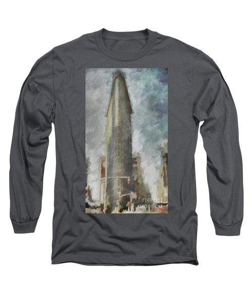 Long Sleeve T-Shirt featuring the digital art Flat Iron by Jim  Hatch