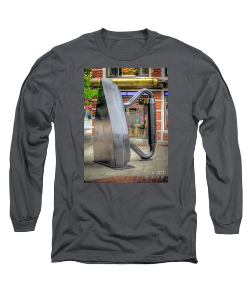 Long Sleeve T-Shirt featuring the photograph Flat Iron Sculpture by Marion Johnson