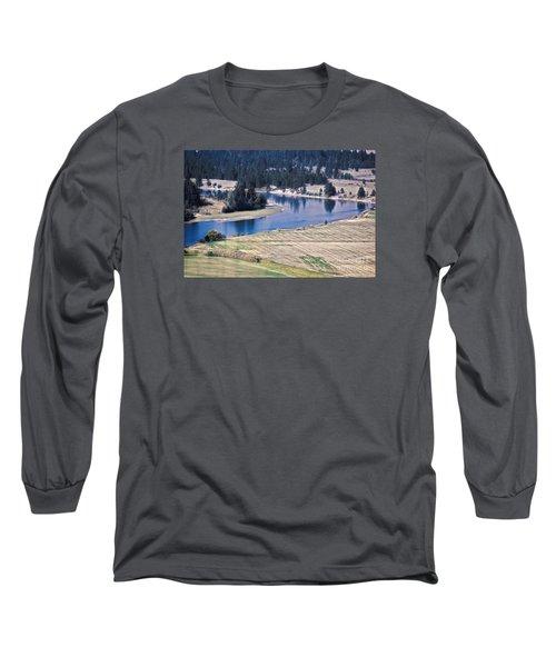 Flathead River 1 Long Sleeve T-Shirt by Janie Johnson