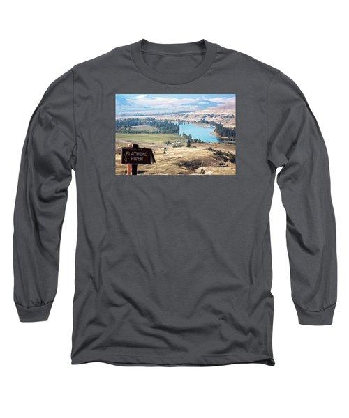 Flathead River 4 Long Sleeve T-Shirt by Janie Johnson