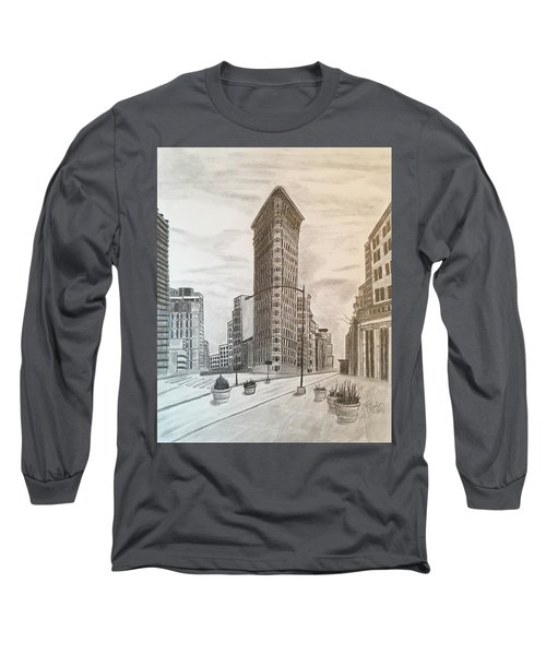 Flatiron Study Long Sleeve T-Shirt by Tony Clark