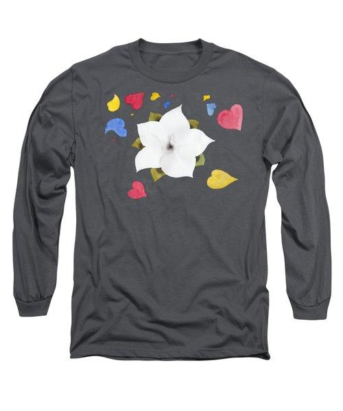 Fleur Et Coeurs Long Sleeve T-Shirt by Marc Philippe Joly