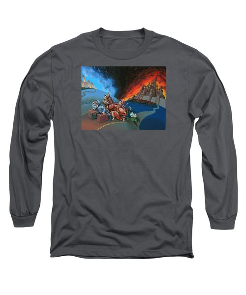 Flight Of Lot Out From Sodom Long Sleeve T-Shirt