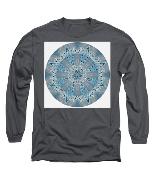 Flight Of The Tundra Swan Mandala Long Sleeve T-Shirt