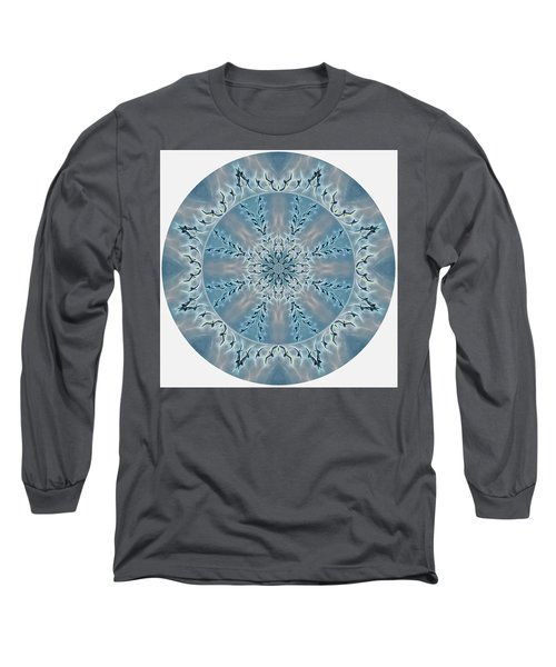 Flight Of The Tundra Swan Mandala Long Sleeve T-Shirt